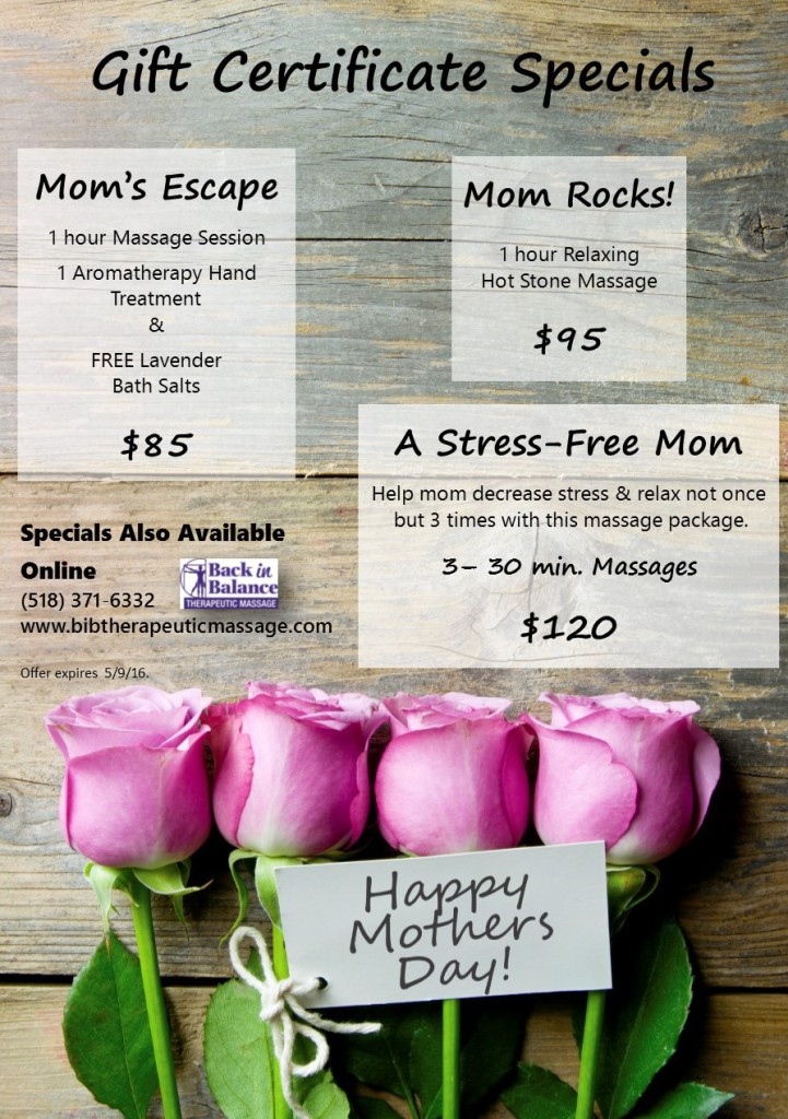 Mothers Day 2016 Specials